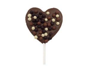 Sucette Coeur Chocolat au Lait