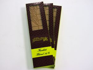 Tablette de chocolat blond feuilleté 32%