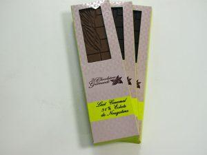 Tablette de chocolat au lait caramel 31% éclats de nougatine