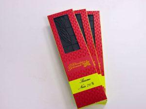 Tablette de chocolat noir 70% Sésame