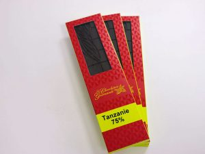 Tablette de chocolat noir 75% Tanzanie