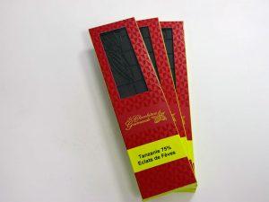 Tablette de chocolat noir 75% Tanzanie Éclats de Fèves