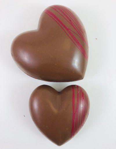 Coeurs lait-rouge