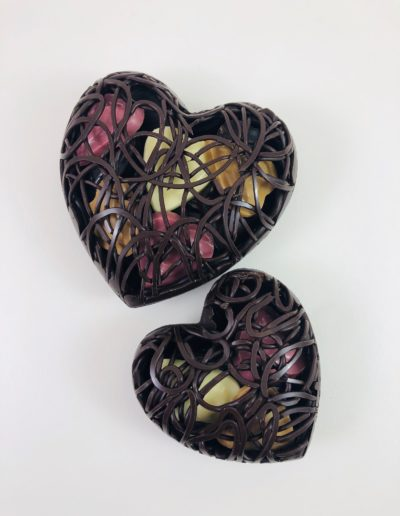 Coeurs noir dentelle