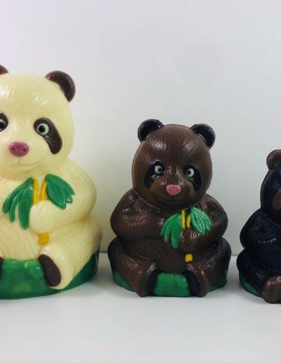 Pandas assortis de 10 cm, 12 cm ou 16 cm